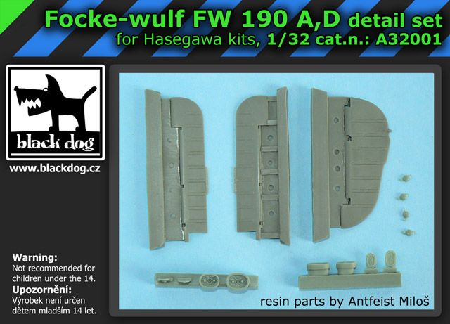 A32001 1/32 Focke-Wulf FW 190 A, D detail set Blackdog