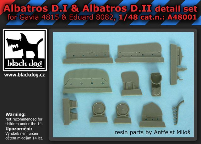 A48001 1/48 Albatros D.I & D.II detail set Blackdog