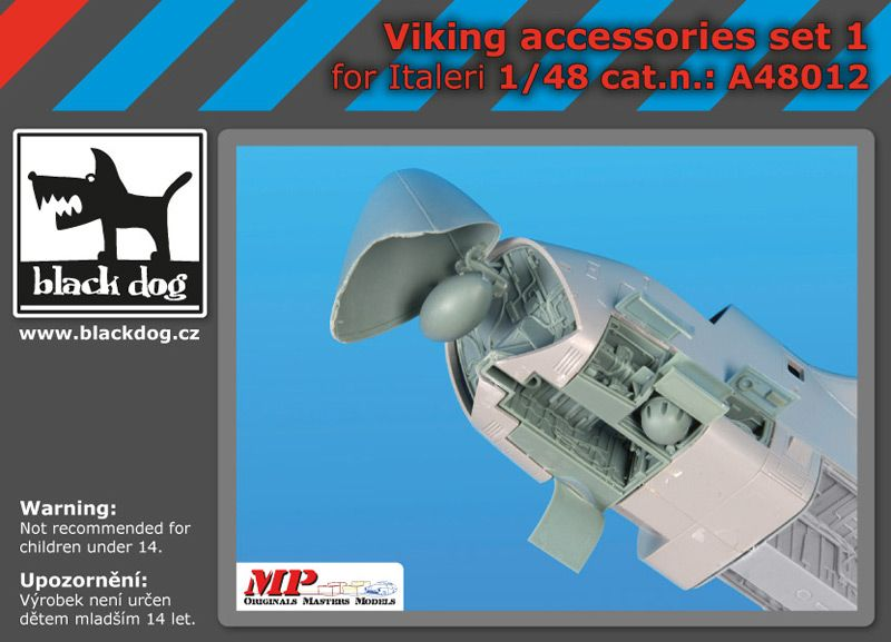 A48012 1/48 Viking accessories set N°1 Blackdog