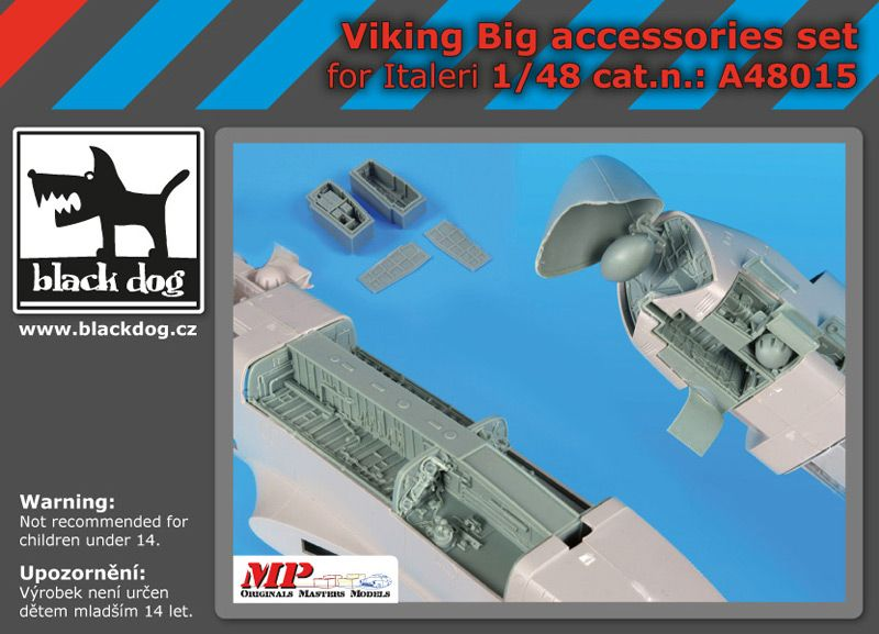 A48015 1/48 Viking big accessories set Blackdog