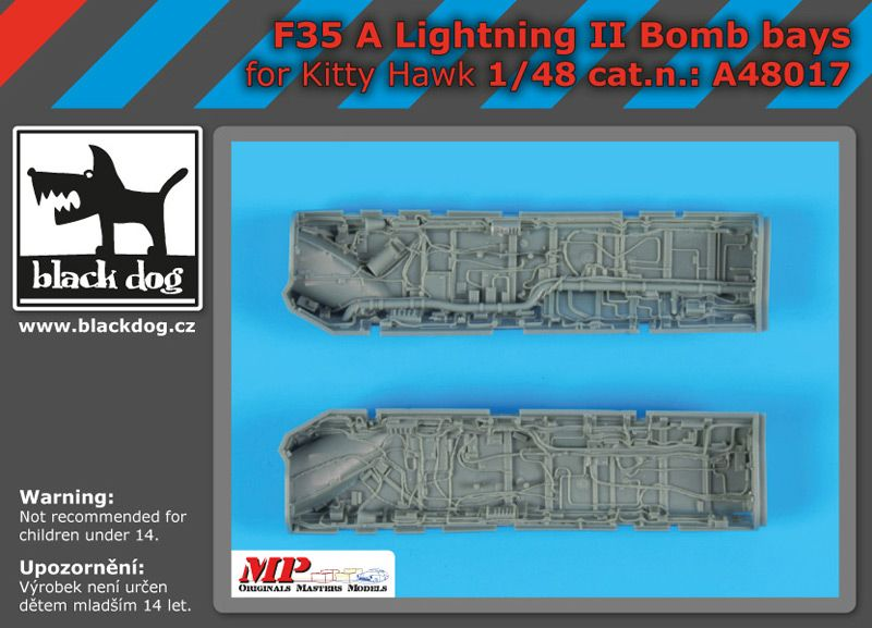 A48017 1/48 F 35 A Lighting II bomb bays Blackdog