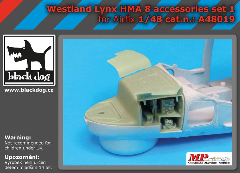 A48019 1/48 Westland Lynx HMA8 accessories set N°1 Blackdog