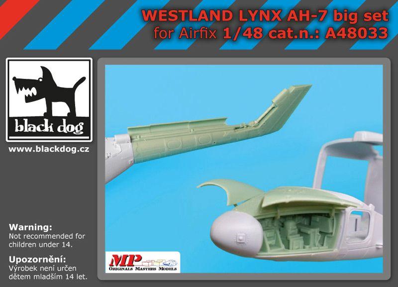 A48033 1/48 Westland Lynx AH 7 big set Blackdog