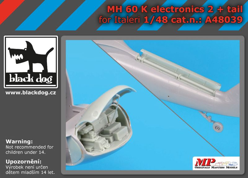 A48039 1/48 MH-60 K electronic 2 +tail Blackdog