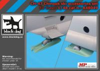 A48049 1/48 Ch-47 Chinook ski accessories set Blackdog