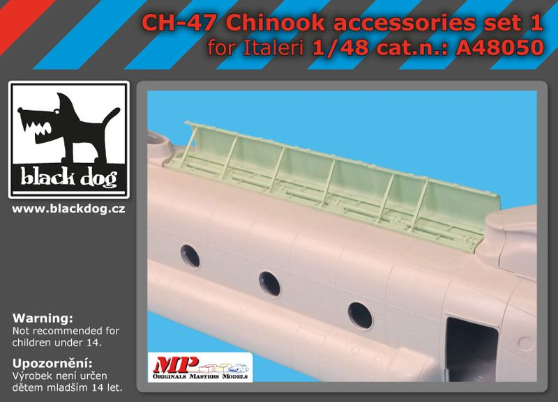 A48050 1/48 Ch-47 Chinook accessories set 1 Blackdog