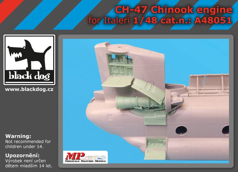 A48051 1/48 Ch-47 Chinook engine Blackdog