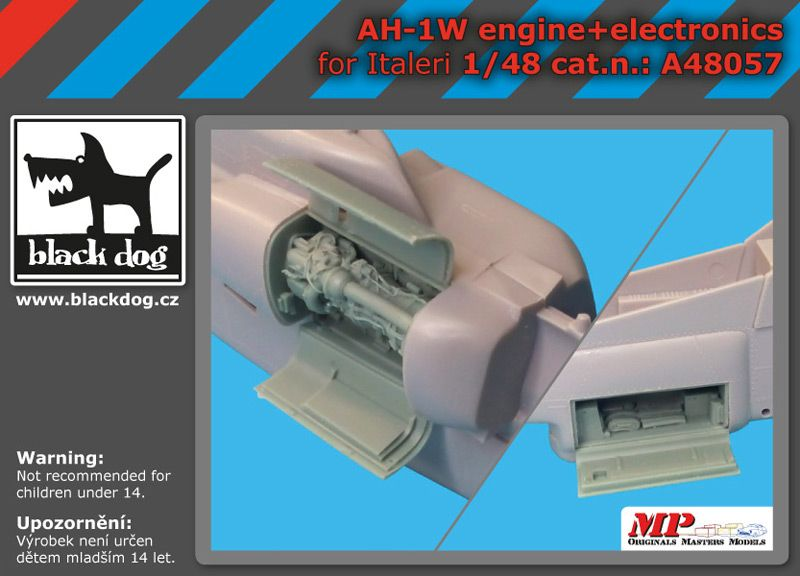 A48057 1/48 AH-1W engine-electronic Blackdog