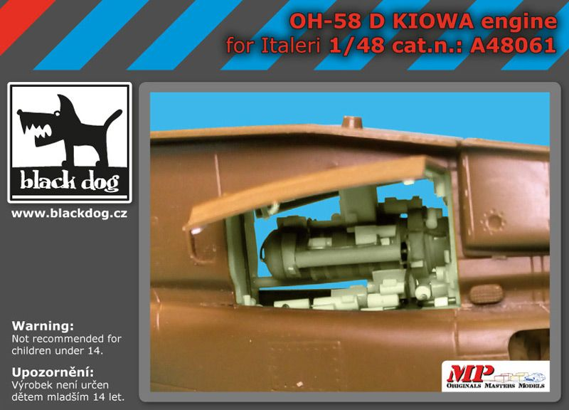 A48061 1/48 OH-58 D Kiowa engine Blackdog