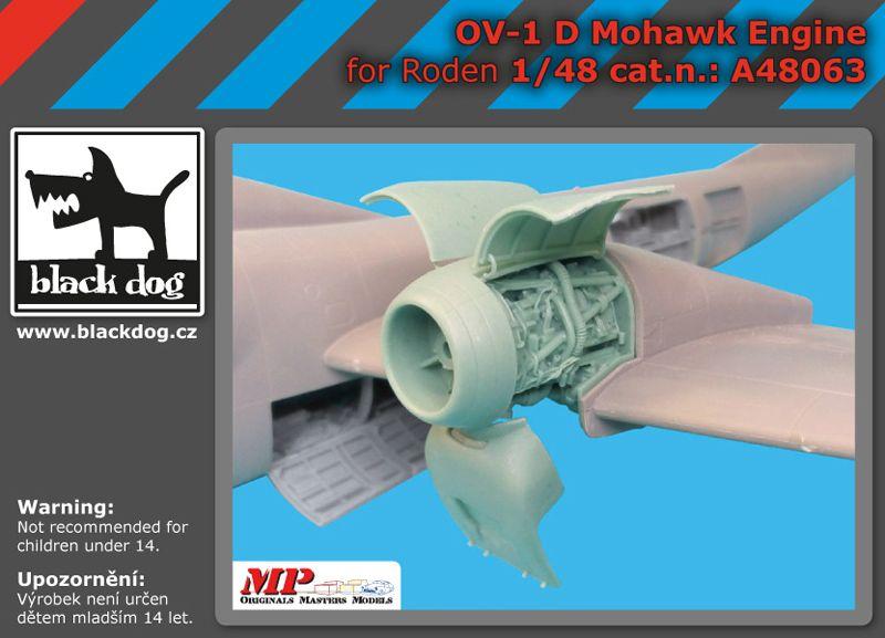 A48063 1/48 OV-1 D Mohawk engine Blackdog