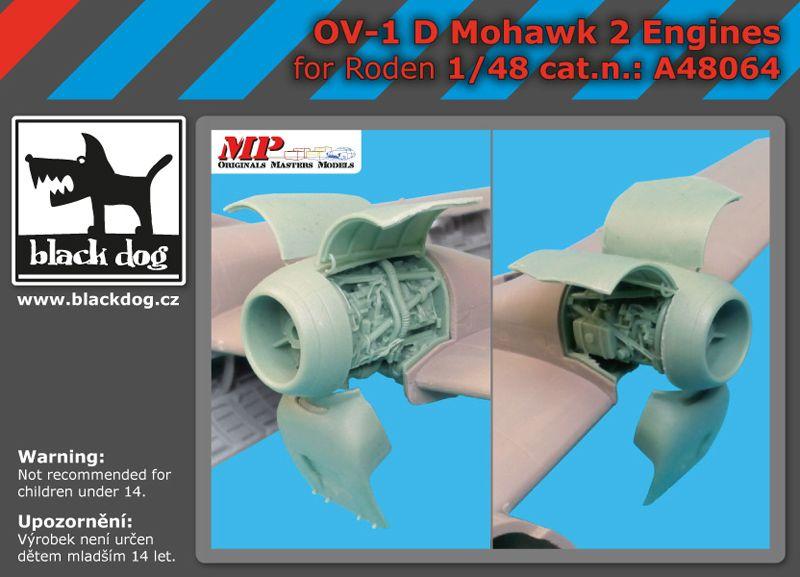 A48064 1/48 OV-1 D Mohawk 2 engines Blackdog