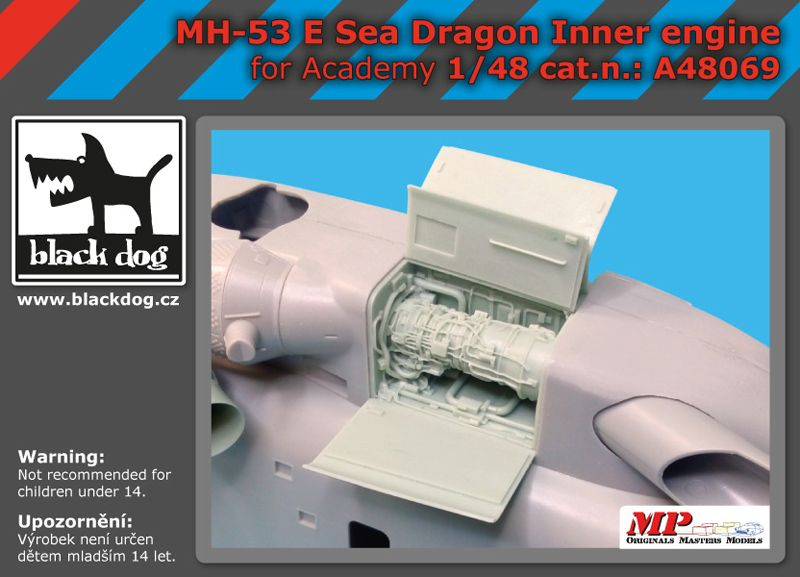 A48069 1/48 MH-53 E Sea Dragon inner engine Blackdog