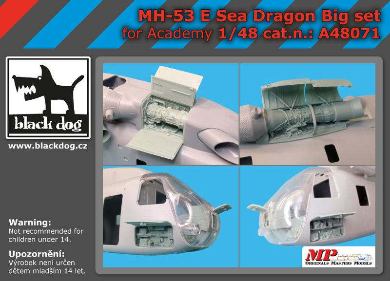 A48071 1/48 MH-53 E Sea Dragon big set Blackdog