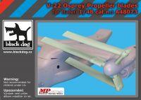 A48073 1/48 V-22 Osprey propeller blades Blackdog