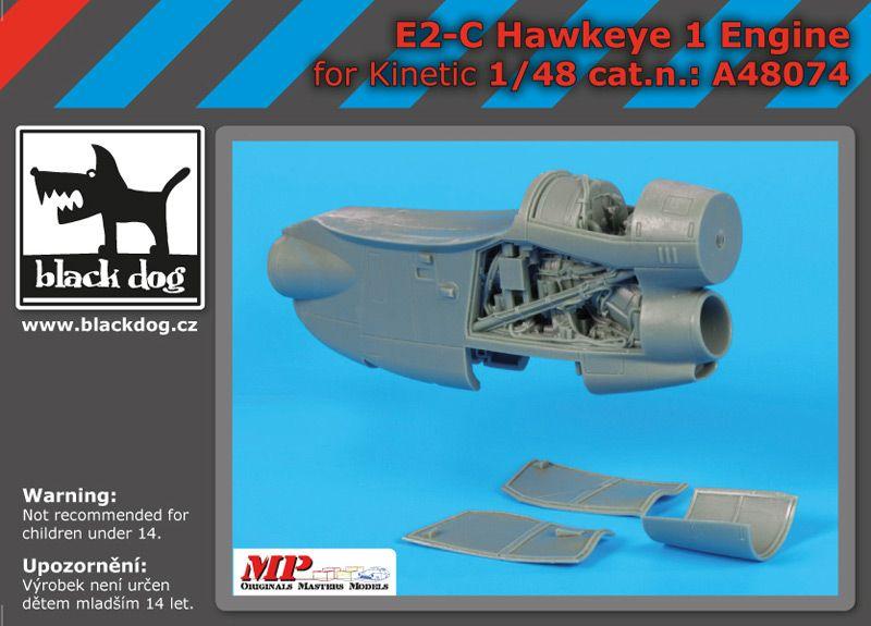 A48074 1/48 E-2 C Hawkeye 1 engine Blackdog