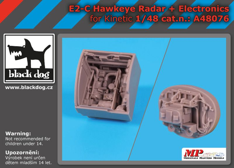 A48076 1/48 E-2 C Hawkeye radar +electronics Blackdog