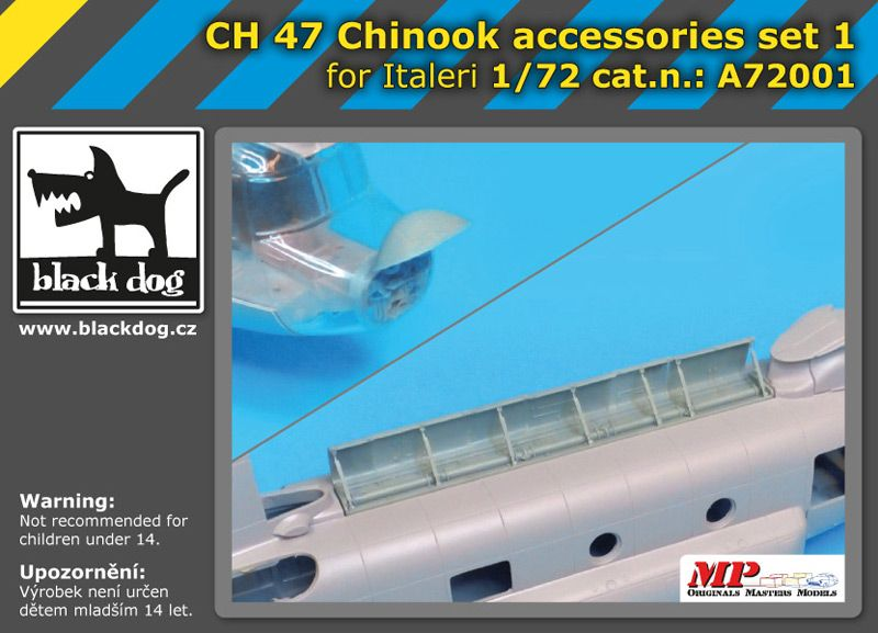 A7201 1/72 CH-47 Chinnok accessories set Blackdog