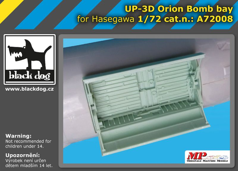A7208 1/72 UP-3 D Orion bomb bay Blackdog
