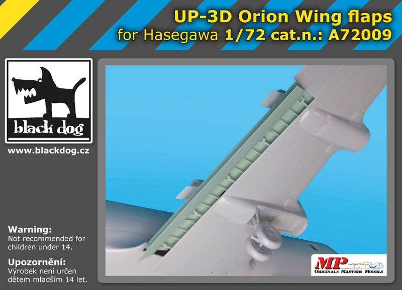 A7209 1/72 UP-3 D Orion wing flaps Blackdog