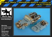 T72016 1/72 M3 Half Track +amphibian vehicle