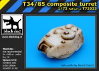 T72023 1/72 T34/85 composite turet Blackdog
