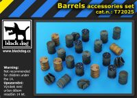T72025 1/72 Barrels accessories set