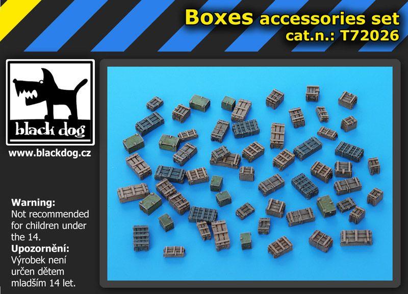 T72026 1/72 Boxes accessories set Blackdog