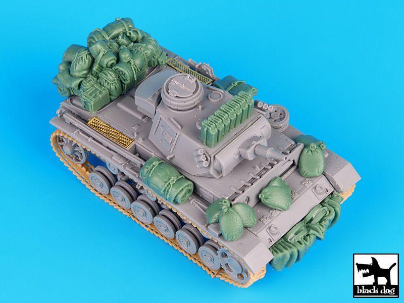 T72037 1/72 German Pz.Kpw III Ausf.N DAK accessories set Blackdog