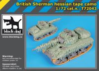 T72043 1/72 British Sterman hessian tape camo