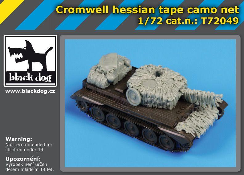 T72049 1/72Cromwell hessian tape camo net Blackdog