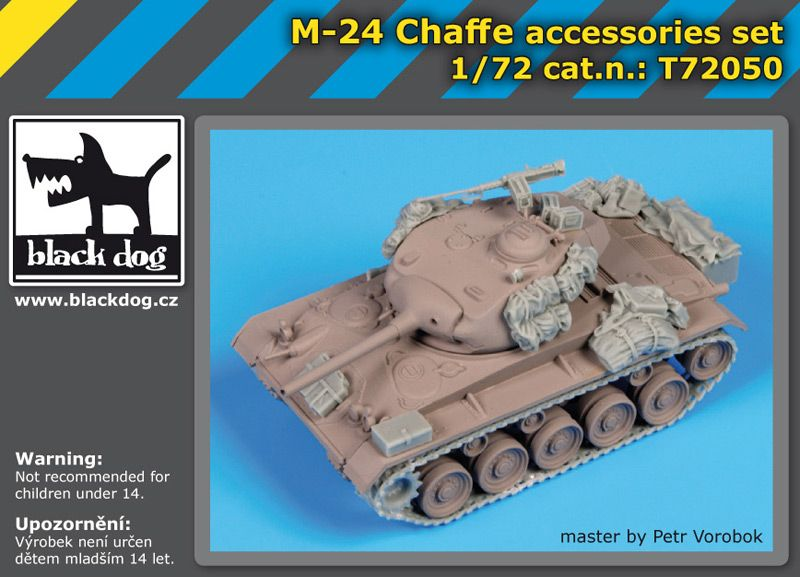 T72050 1/72 M24 Chaffe accessories set Blackdog