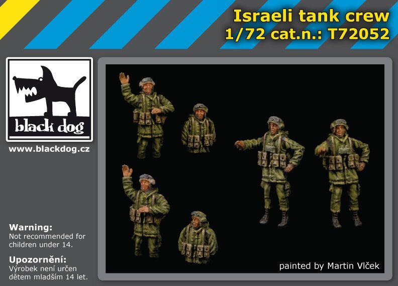 T72052 1/72 Israeli tank crew Blackdog