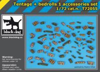 T72055 1/72 Tentage plus bedrols 1 accessories set