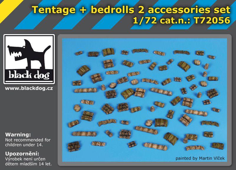 T72056 1/72 Tentage plus bedrols 2 accessories set Blackdog