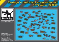 T72057 1/72 Tentage plus bedrols 3 accessories set