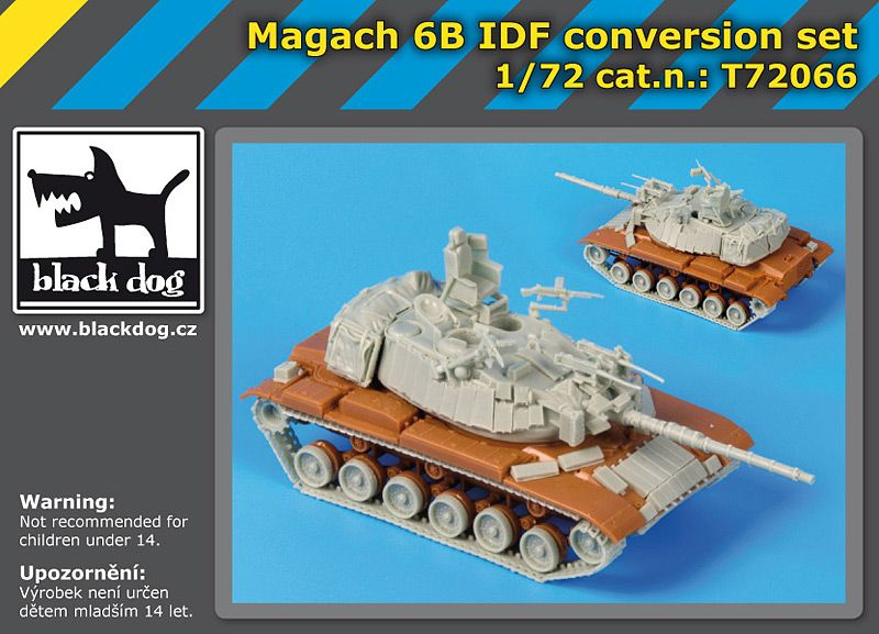 T72066 1/72 Magach 6 B IDF conversion setT72066 1/72 Magach 6 B IDF conversion set Blackdog