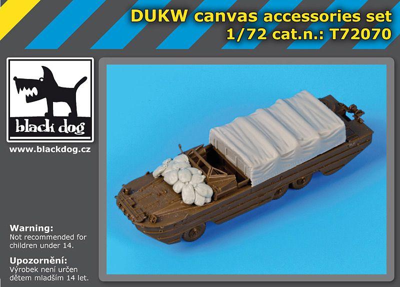 T72070 1/72 DUKW canvas accessories set Blackdog