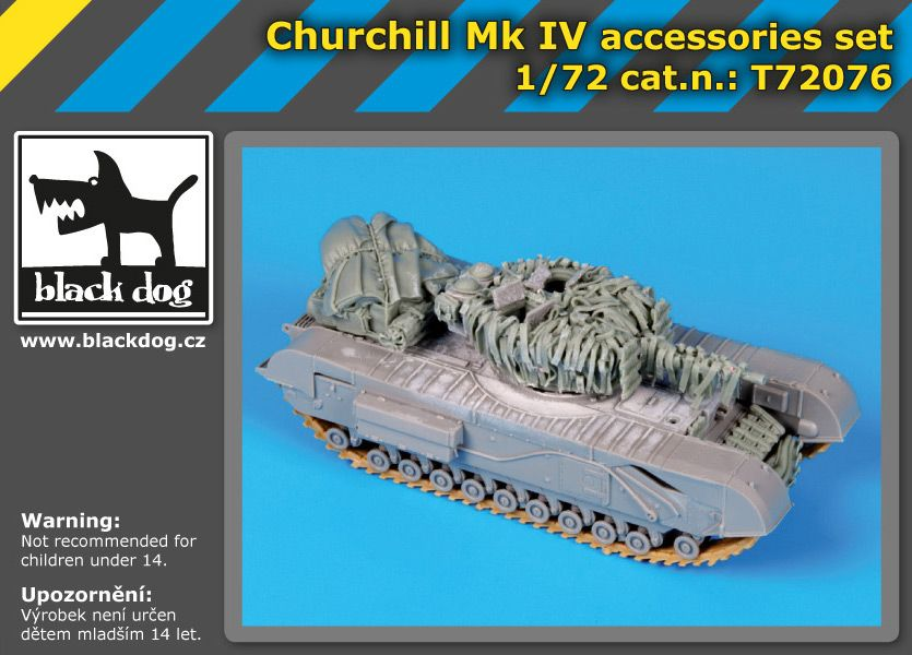 T72076 1/72 Churchil Mk IV Blackdog