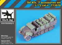 T72078 1/72 Sd.Kfz 7 accessories set Blackdog