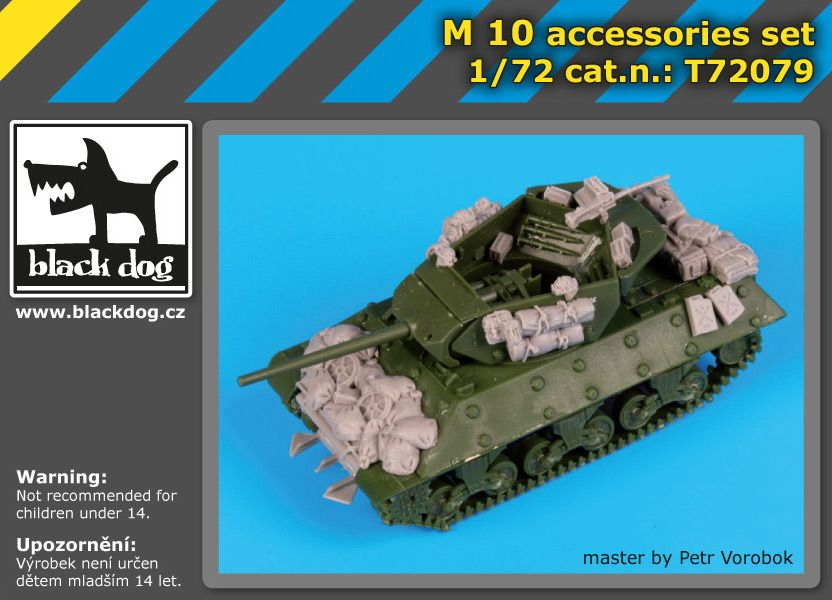 T72079 1/72 M-10 accessories set Blackdog