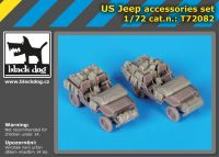 T72082 1/72 US Jeep accessories set Blackdog