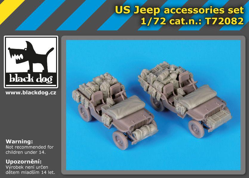 T72082 1/72 US Jeep accessories set Blackdog