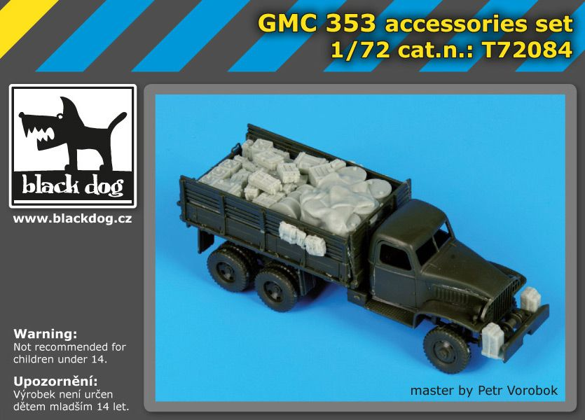 T72084 1/72 GMC 353 accessories set Blackdog