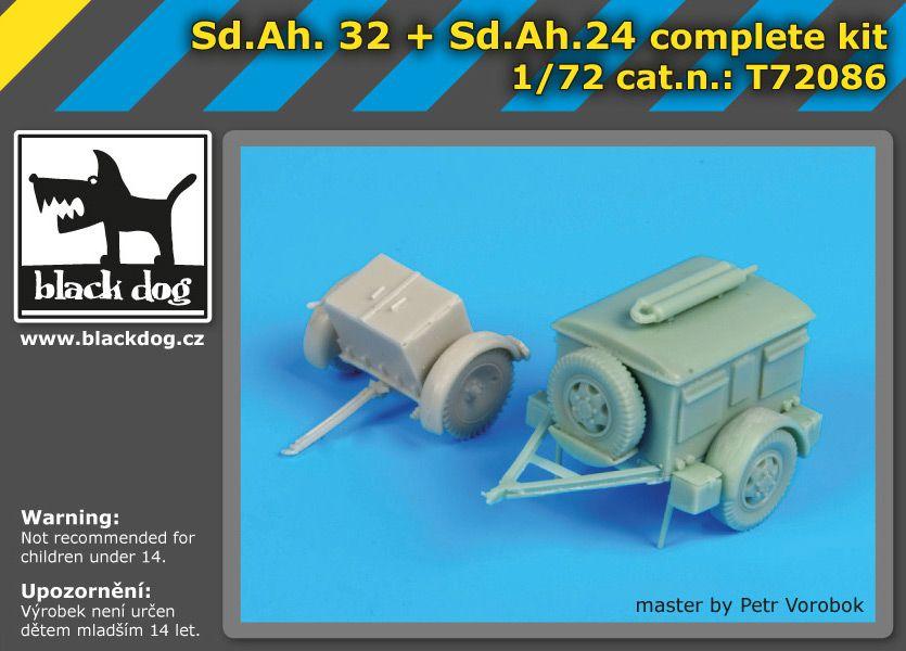 T72086 1/72 S.d.Ah32+S.d.Ah 24 complet kit Blackdog