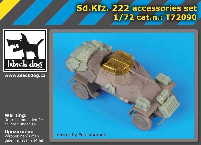 T72090 1/72 Sd.Kfz 222 accessories set Blackdog