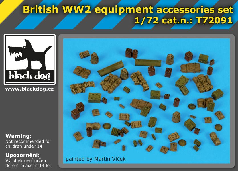 T72091 1/72 British WW II equipment accessories set Blackdog