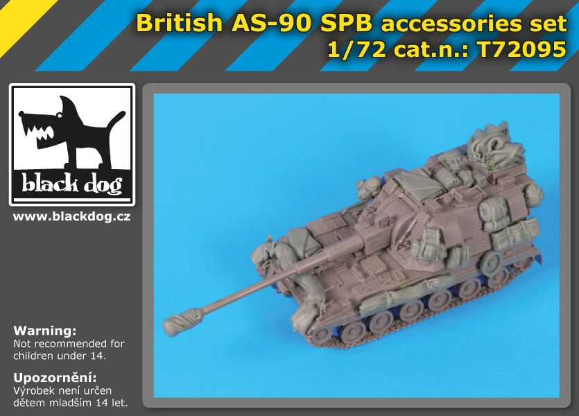 T72095 1/72 British AS-90 SPB accessories set Blackdog
