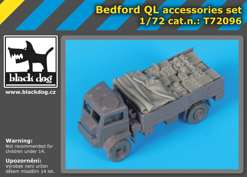 T72096 1/72 Bedford QL accessories set Blackdog