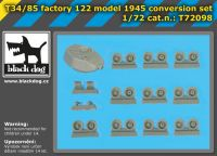 72098 1/72 T 34/85 factory 122 model 1945 conversion set