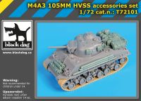72101 1/72 M4A3 105MM HVSS accessories set Blackdog